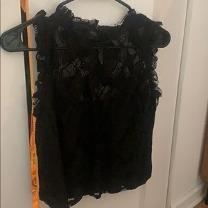 NWT Zara black lace top size S
